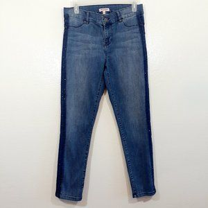 Skinny jeans high rise two color wash out